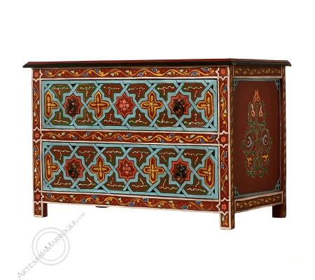 Mueble bajo 75 cm burdeos