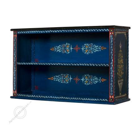 Librería azul oscuro