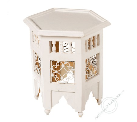 Mesa mini blanca