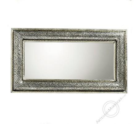 Arabic mirror 050x90 cm silver