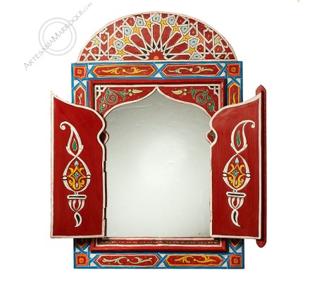 Espejo árabe 060x90 cm rojo