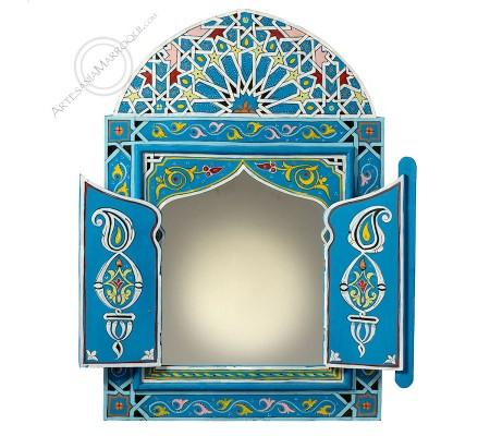 Espejo árabe 060x90 cm azul