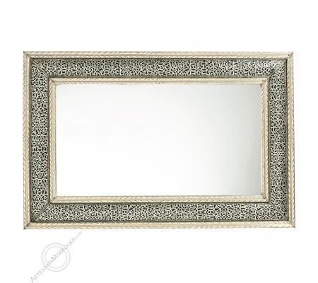 Espejo árabe 065x100 cms plateado