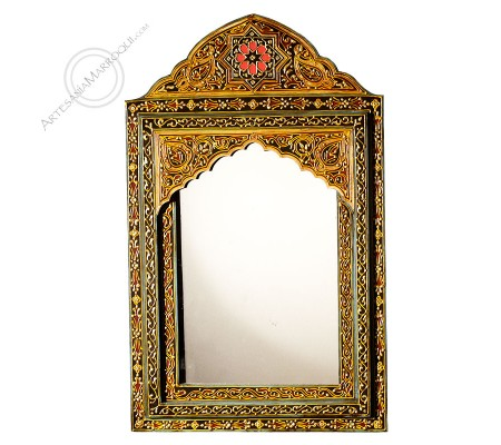 Espejo árabe 065x105cms marco henna