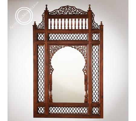 Arabic mirror 068x116cms of openwork wood
