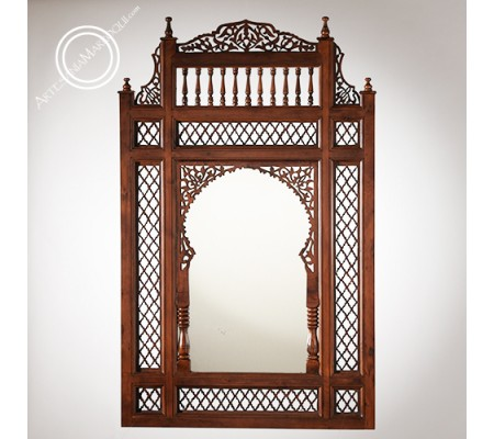 Espejo árabe 068x116cms de madera calada