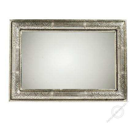 Arabic mirror 070x100cm silver