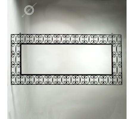 Arabic mirror 075 x 160 cm horizontal wrought iron