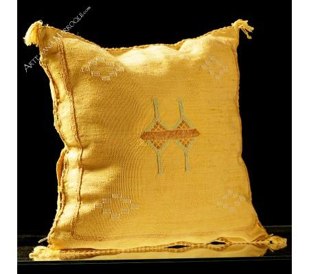 Orange yellow sabra cushion