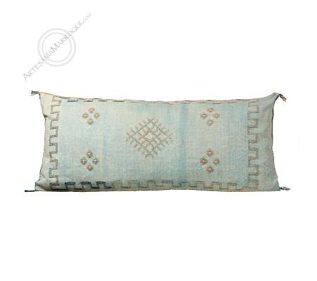 Large sky blue sabra cushion