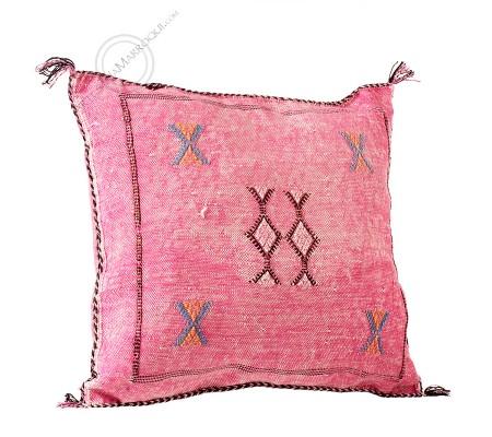 Fuchsia sabra throw pillow