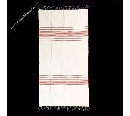 Bedspread 134x253 cm red