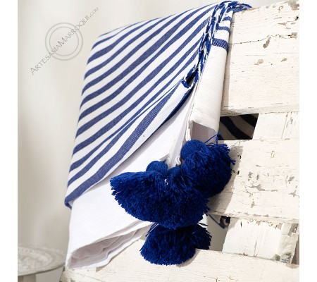 Bedspread 157x277cm navy blue