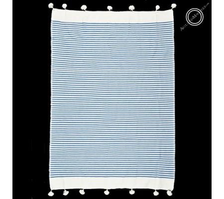 Colcha 190x267 cm azul