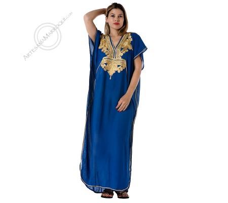 Gandora azul bordados dorados