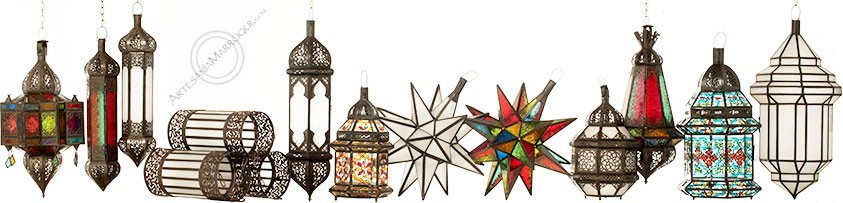 Lámparas árabes de forja